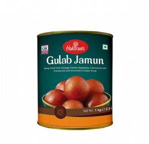 Gulab Jamun (Tinned) 1kg by Haldirams | Buy Online at The Asian Cookshop